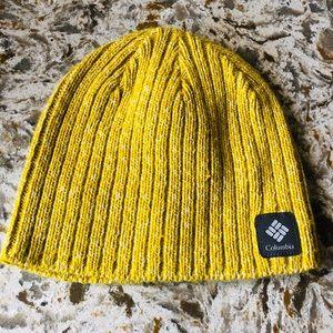 NWOT Columbia beanie! Beautiful yellow!